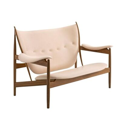 Finn Juhl, 'Finn Juhl Chieftain Sofa Couch Walnut Vegetal Nature Leather', Contemporary