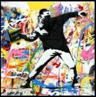 Mr. Brainwash, 'Banksy Thrower (13)', 2015