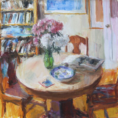 Stephen May, 'Dining Room with Peonies', 2017