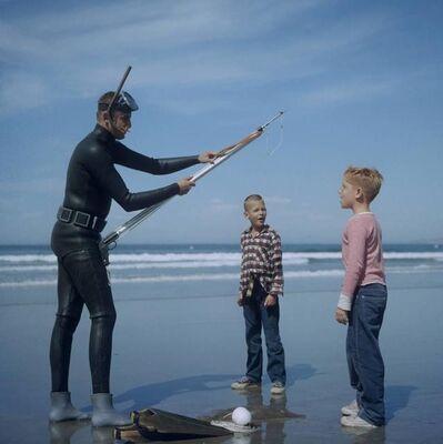 Slim Aarons, 'Spear Fishing In San Diego', 1960