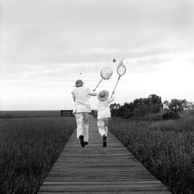 Rodney Smith, 'Gary and Henry Chasing Butterfly, Beaufort, SC', 1996