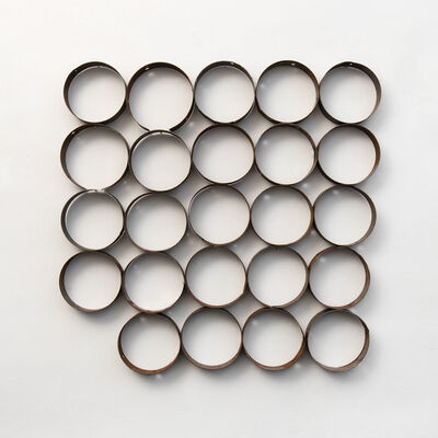 Olu Oguibe, 'Composition with 24 Steel Rings', 2019