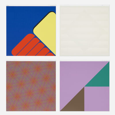 Various Artists, 'four works from the Domberger Siebdruck-Kalender portfolio', 1971