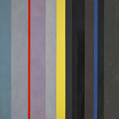 Lorser Feitelson, 'Dichotomic Organization: Stripes', 1959