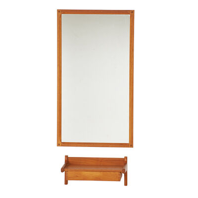 Aksel Kjaersgaard, 'Tall mirror and shelf with drawer', 1960s/70s