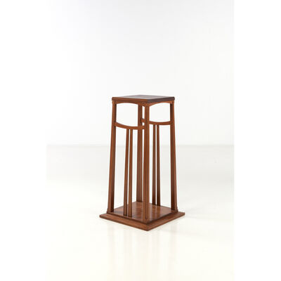 Gustave Serrurier-Bovy, 'Pedestal table (in the spirit of)'