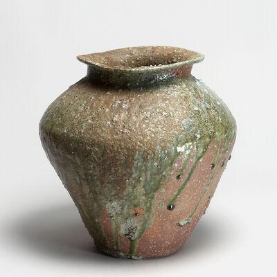 Shiro Tsujimura, 'Storage jar with a wide opening (hirokuchi tsubo)', around 1999