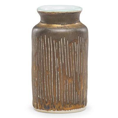 Lucie Rie, 'Cabinet vase, manganese glaze, England'
