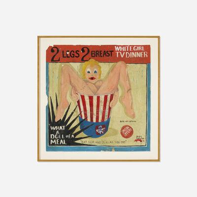 Michael Ray Charles, '(Forever Free) 2 Legs, 2 Breast, White Girl T.V. Dinner', 1994