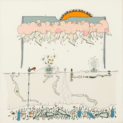 Gianfranco Baruchello, 'Piccola tempesta magnetica', 1980