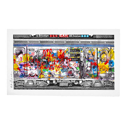 Mr. Brainwash, 'CHELSEA EXPRESS (Red Hand Finished Unique)', 2016
