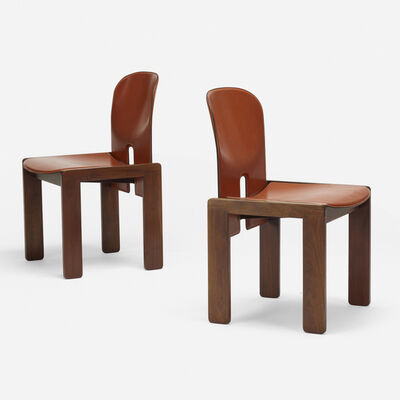 Afra and Tobia Scarpa, 'chairs model 121, pair', 1965