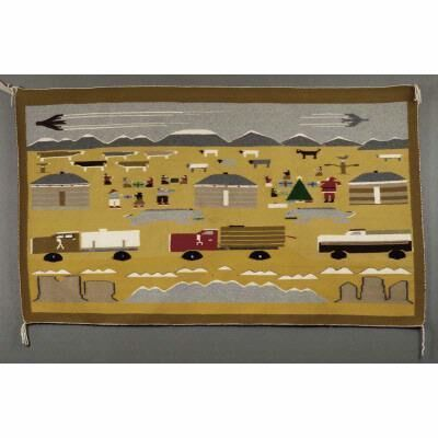 juanita tsosie, 'Christmas on the Navajo Reservation', 1974-1977