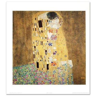 Gustav Klimt, 'The Kiss', 1990-2020