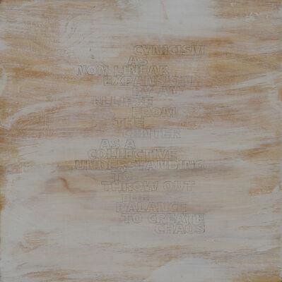 Jo Felber, 'Vom Stand Der Dinge', 2003