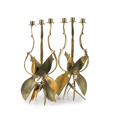 Arman (1928-2005), 'Two candlestick holders'