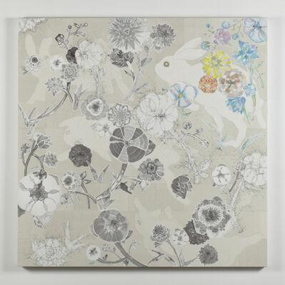 Yuko Someya, '土を慕い、草花鳴らし光こぼるる  Cherishing the soil, the light falls on rustling', 2014