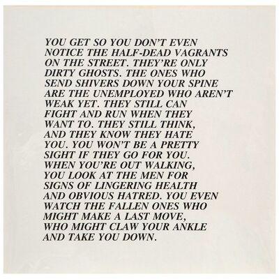 """Jenny Holzer, 'Half-Dead, """"Inflammatory Essay"""" (from Documenta 1982)', 1982"""