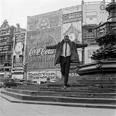 James Barnor, 'Mike Eghan at Picadilly Circus, London', 1967