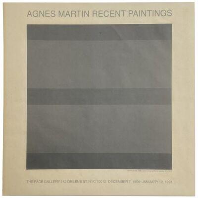 Agnes Martin, 'Agnes Martin Recent Paintings', 1990