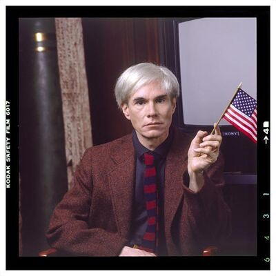 Karen Bystedt, 'Andy With Flag (Color)', 1982