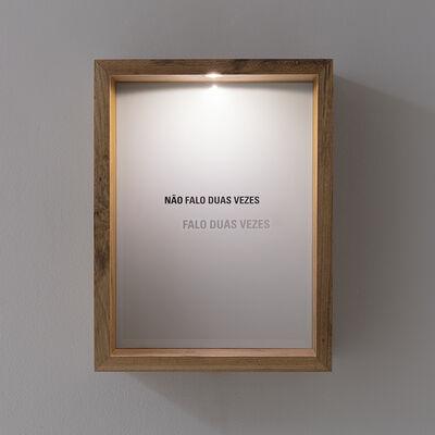 Marcos Chaves, 'Não falo duas vezes', 2018