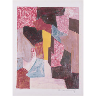 Serge Poliakoff, 'Composition Rouge, Carmin, (Poliakoff/Schneider P19)', 1958
