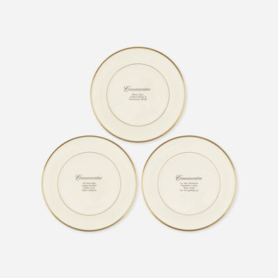 Carrie Mae Weems, 'Commemorative Plates, set of three', 1992