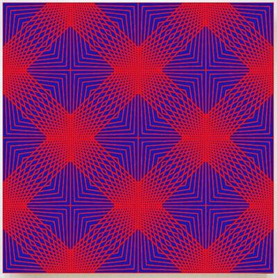 John Zoller, 'John Zoller, Blue Red Radial Compression', 2018