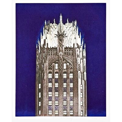 Richard Haas, 'GENERAL ELECTRIC BUILDING (Blue)', 2005