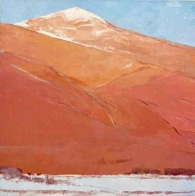 Dinah Worman, 'The Glow of the Sangres (desertscape, snow, mountain, perspective)', 2020