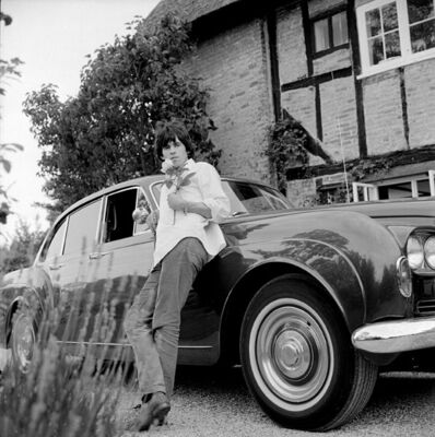 Gered Mankowitz, 'Keith Richards and Bentley ', 1966