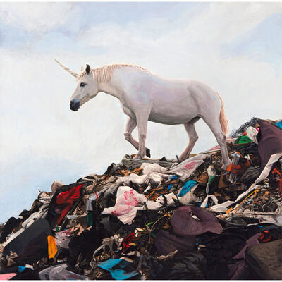 "Josh Keyes, 'Josh Keyes ""Rainbows End"" Print Unicorn ', 2020"