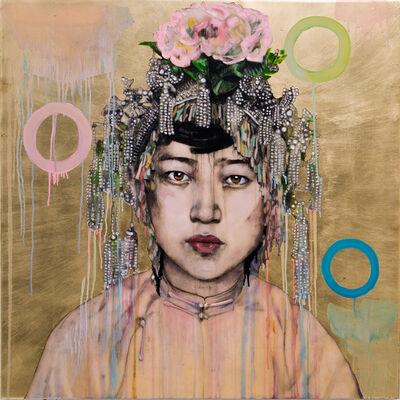 Hung Liu, 'Da Fan Che - Gold II', 2018