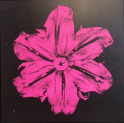 Rubem Robierb, 'Power Flower N-3 (Pink on black)', 2016