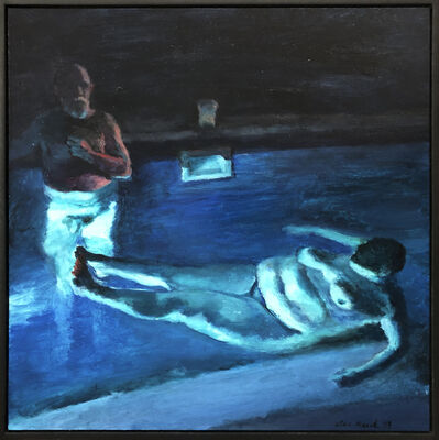 Clare Menck, 'Moonstruck jacuzzi couple ', 2019