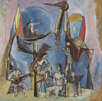 Max Weber, 'The Muses', 1944