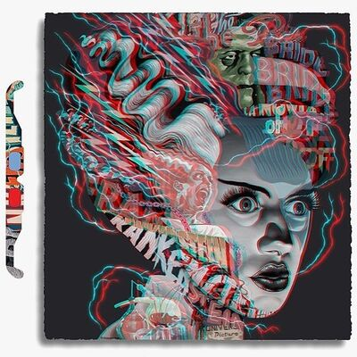 Tristan Eaton, '3D Bride of Frankenstein', 2020