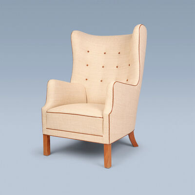 Grete Jalk, 'Very rare and early wingback armchair', 1946