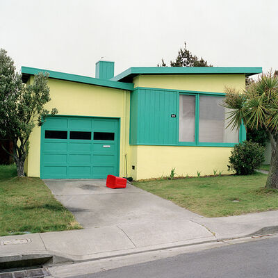 Jeff Brouws, 'Tango Blue, Daly City, California (Freshly Painted Houses)', 1991