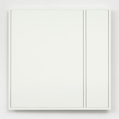 Ad Dekkers, 'Brede en smalle rechthoek gefreesd in vierkant / Wide and narrow rectangle cut into square', 1973