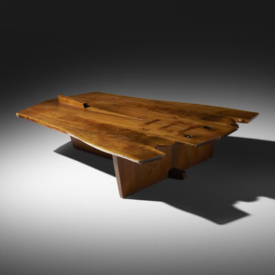 George Nakashima, 'Rare Conoid coffee table', 1968