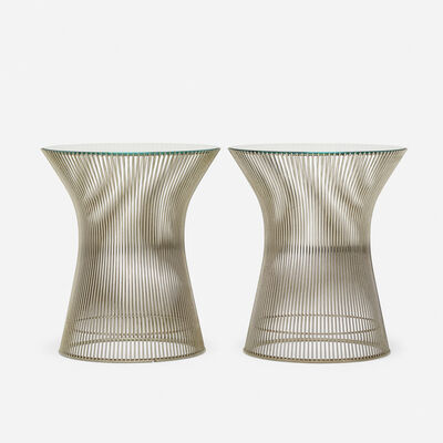 Warren Platner, 'occasional tables, pair', 1966