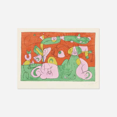Joan Miró, 'Bougrelas et Sa Mere (from the Ubu Roi portfolio)', 1966