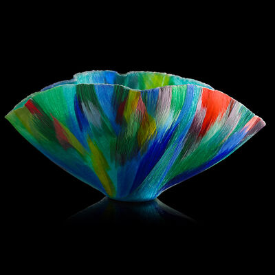 "Toots Zynsky, 'Large filet-de-verre vessel, ""Wild Spring Chaos""', 1996"