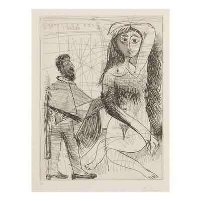 Pablo Picasso, 'Peintre en costume espagnol peignant sur son modèle', 1968
