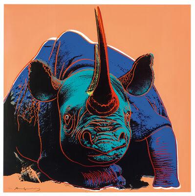 Andy Warhol, 'Black Rhinoceros, Endangered Species F&S II.301', 1983