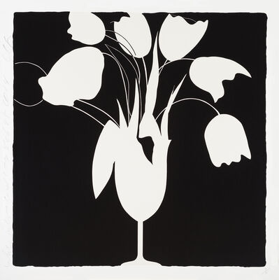Donald Sultan, 'White Tulips and Vase, Feb 25', 2014