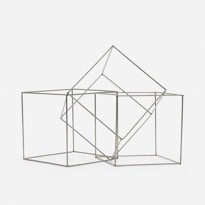François Morellet, 'Trois cubes imbriques', 1977