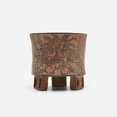 Teotihuacan, 'carved tripod vessel', c. 400 A.D.
